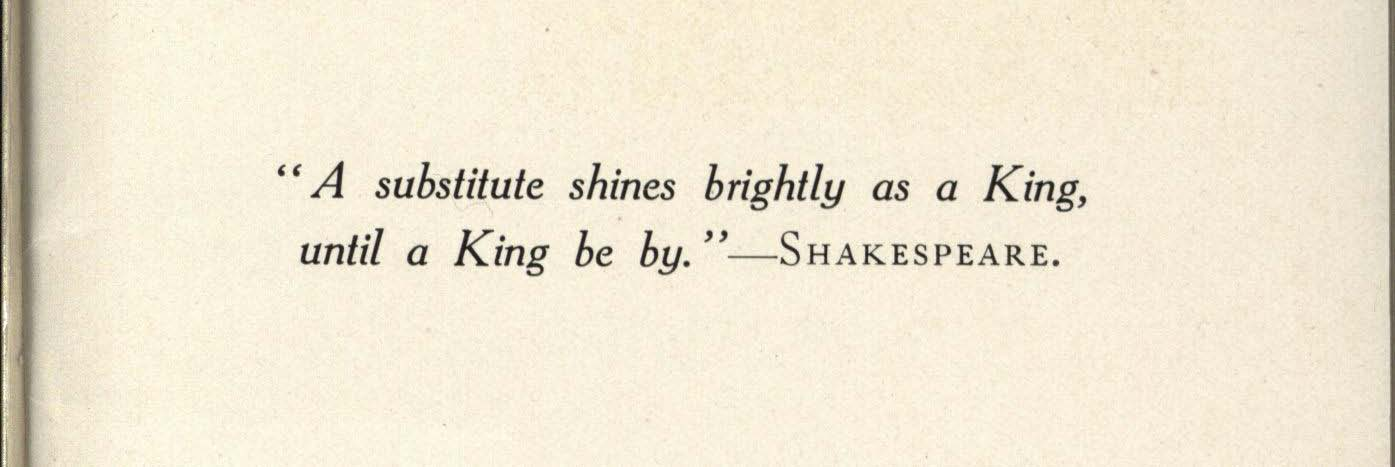 Epigraph on Page Two