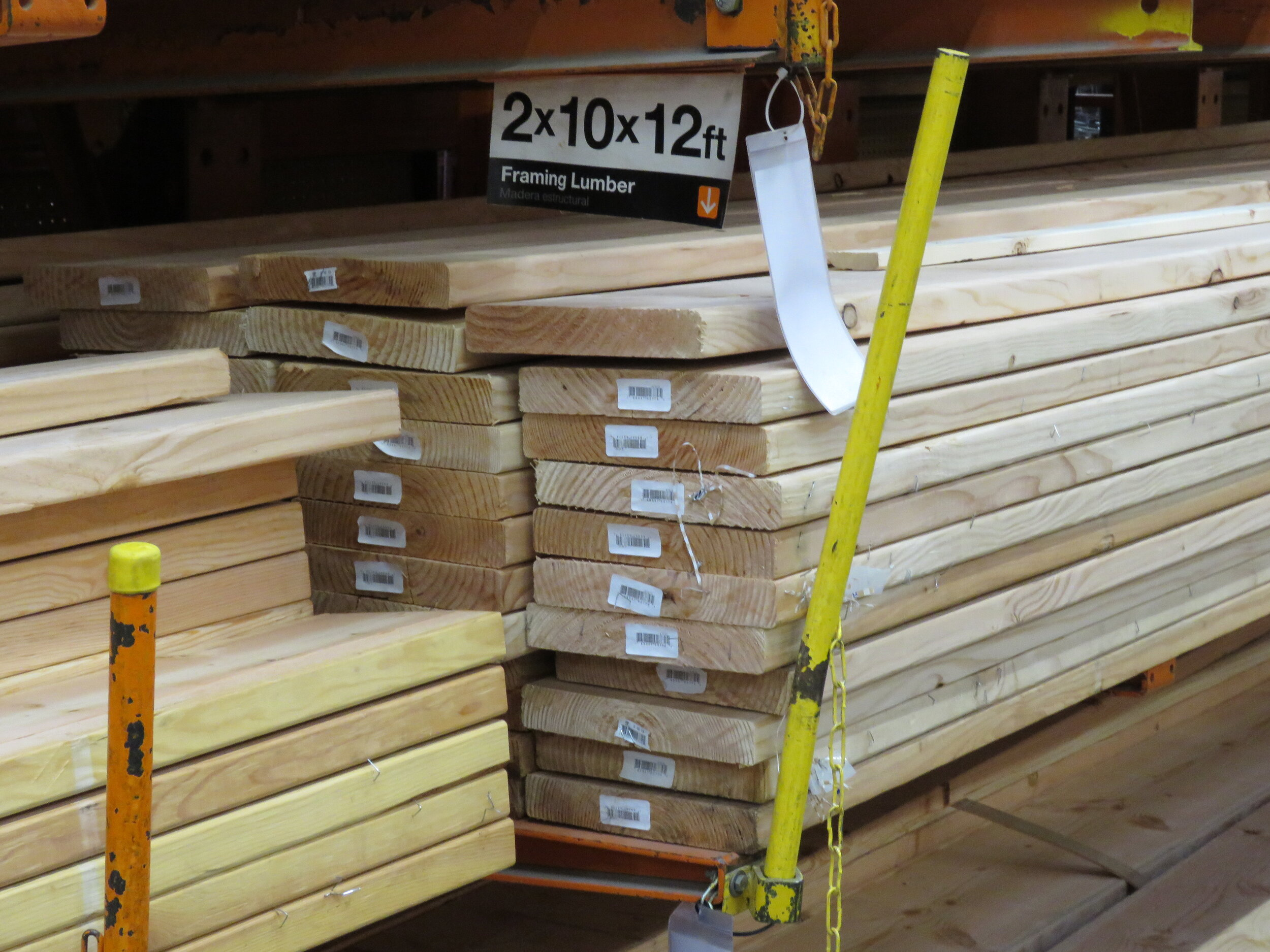 A stack of dimensional lumber.