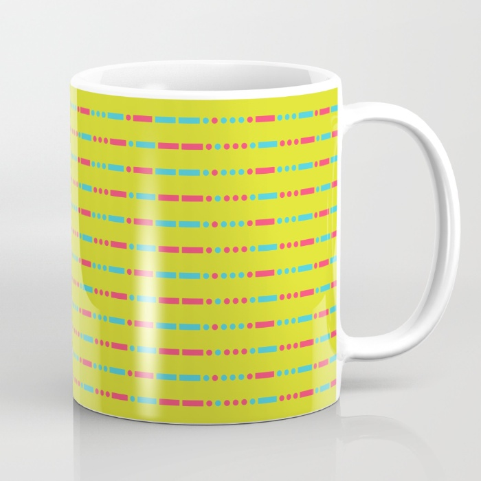 """Savage"" Pattern - Morse Code - Secret Message Mug (11oz)  - US $15.00"