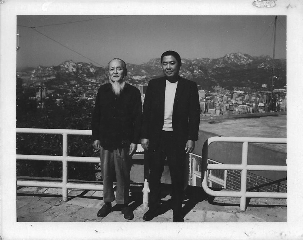 My grandfather, Takao Matsuoka (right), with his father (left).