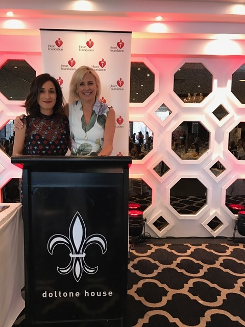 MC ing the Heart Foundation event seen here with the organiser Fay Chiotis