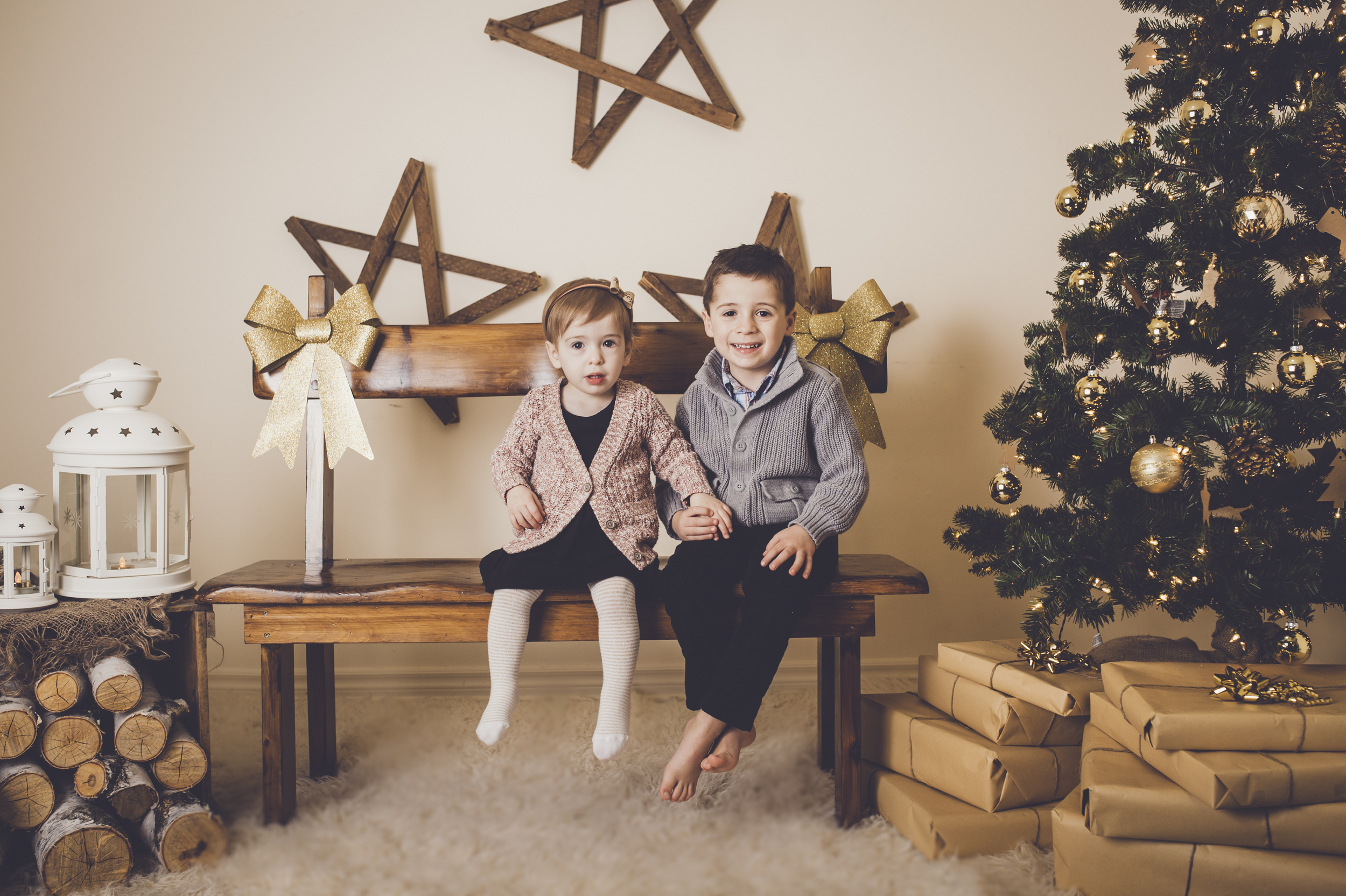 Christmas Session, family photographer, Burlington family photographer