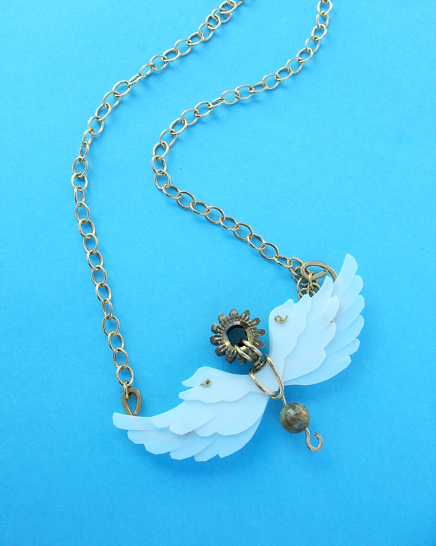 Beat of Angel Wings necklace
