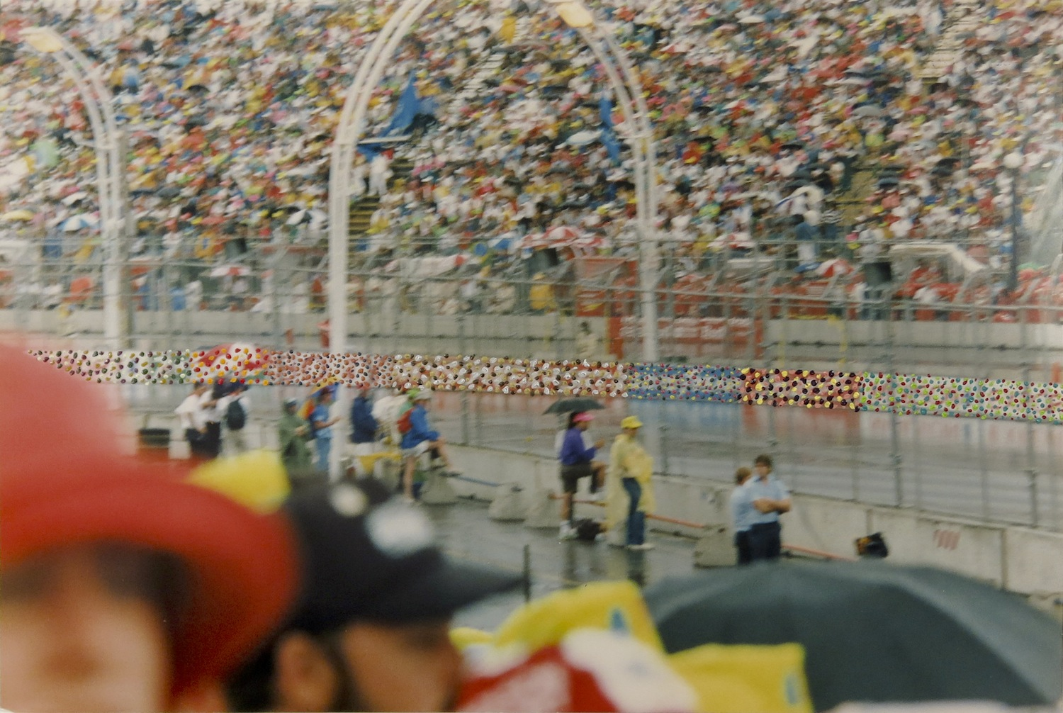 LORNA MILLS  Race Time , 1990 Colour photograph with oil paint