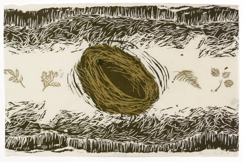 JANICE CARBERT  Untitled , 1990 Linocut on Japanese bark paper