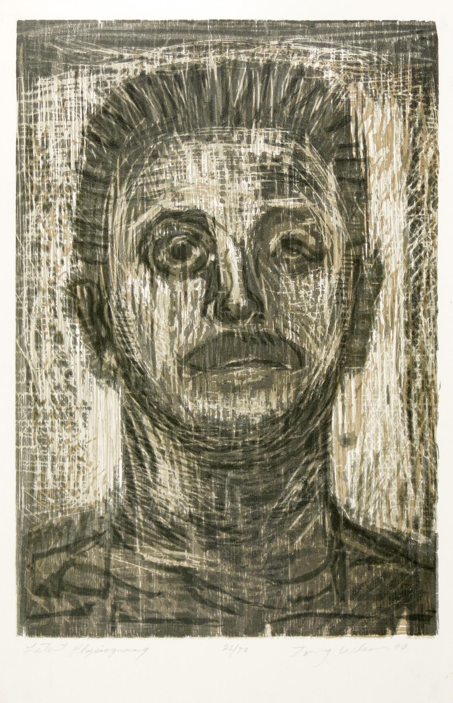 TONY WILSON  Latent Physiognomy , 1990 Woodcut and linocut