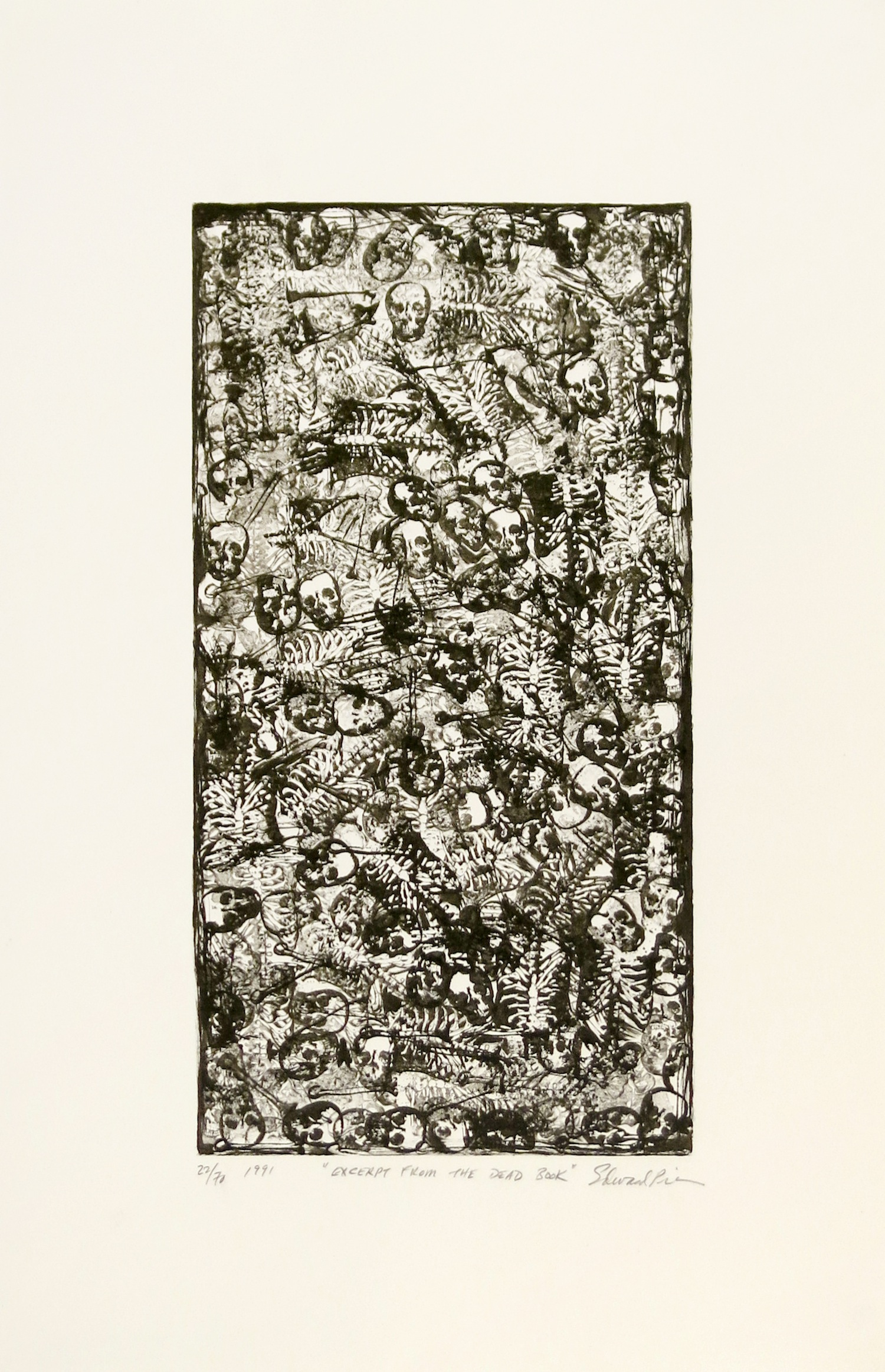 ED PIEN  Excerpt from the Dead Book  , 1991 Lithograph
