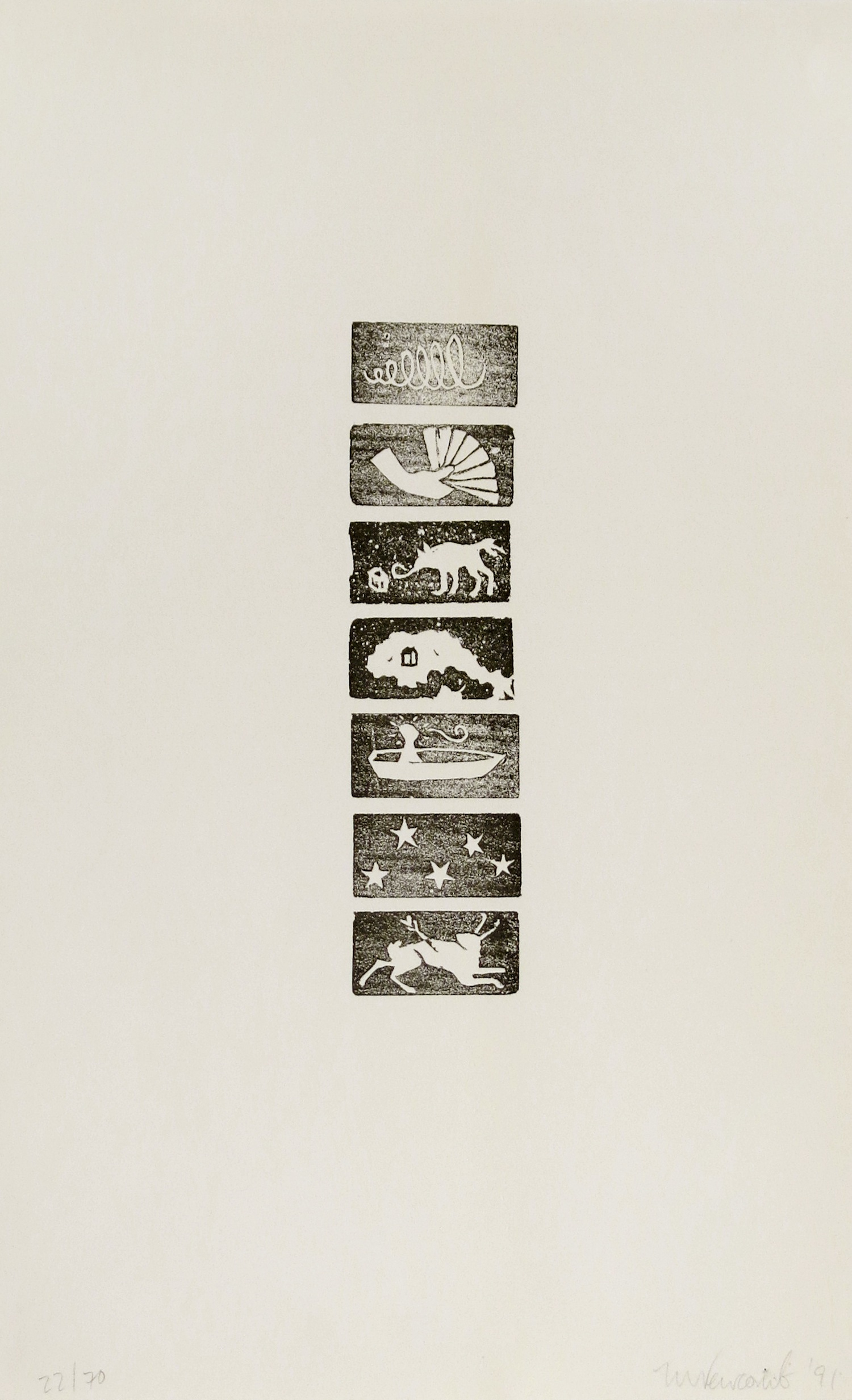 MARY CATHERINE NEWCOMB  Untitled , 1991 Lithograph
