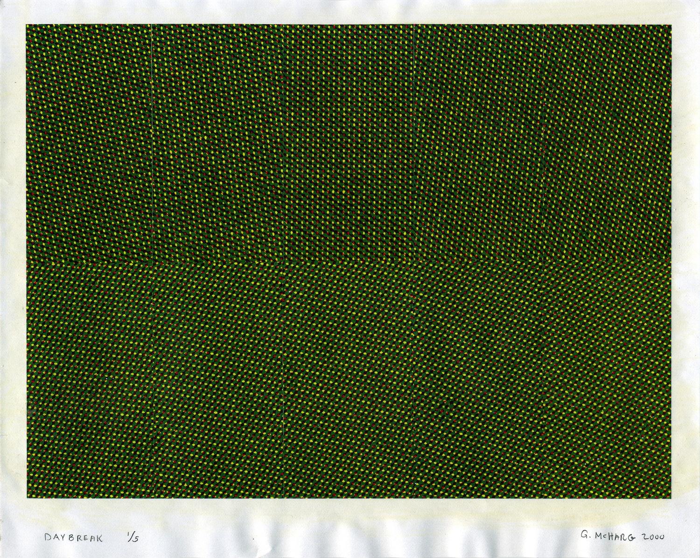 GREG MCHARG  Daybreak , 2000 Xerox with Arylic Varnish