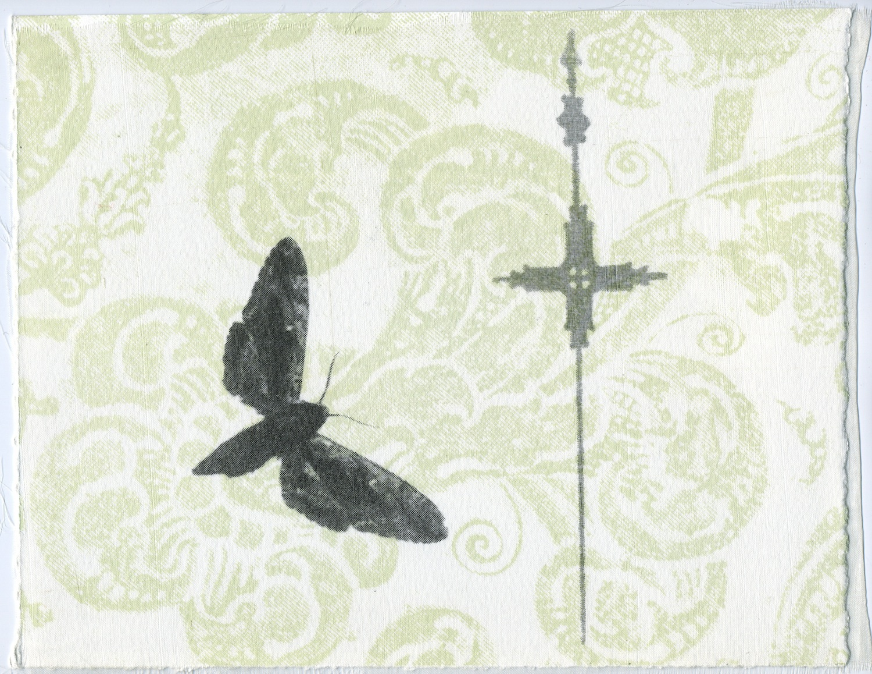 PENELOPE STEWART  Wallpaper II , 2000 Silkscreen, Organza