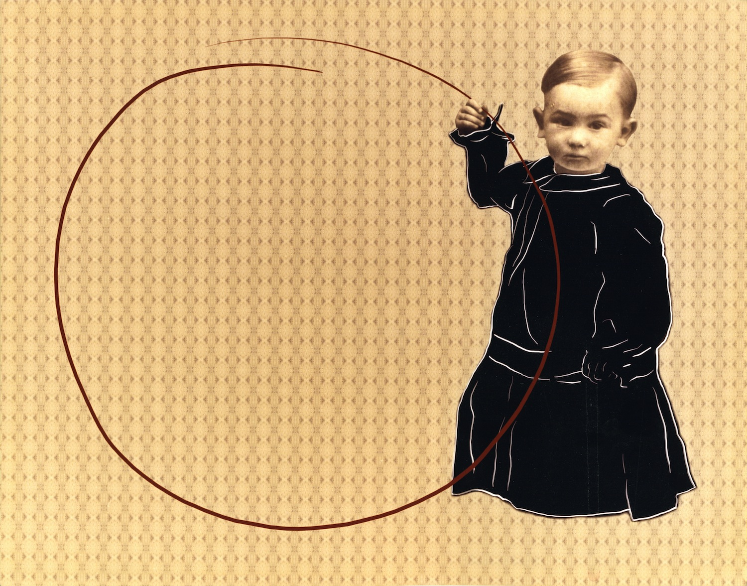 SHARON SWITZER  Child with Hoop  from Child's Play, 1999-2000 C-print