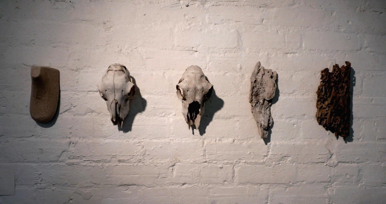 BLINK COLLECTIVE  Relics , 2011, shoe form, animal skulls, wood