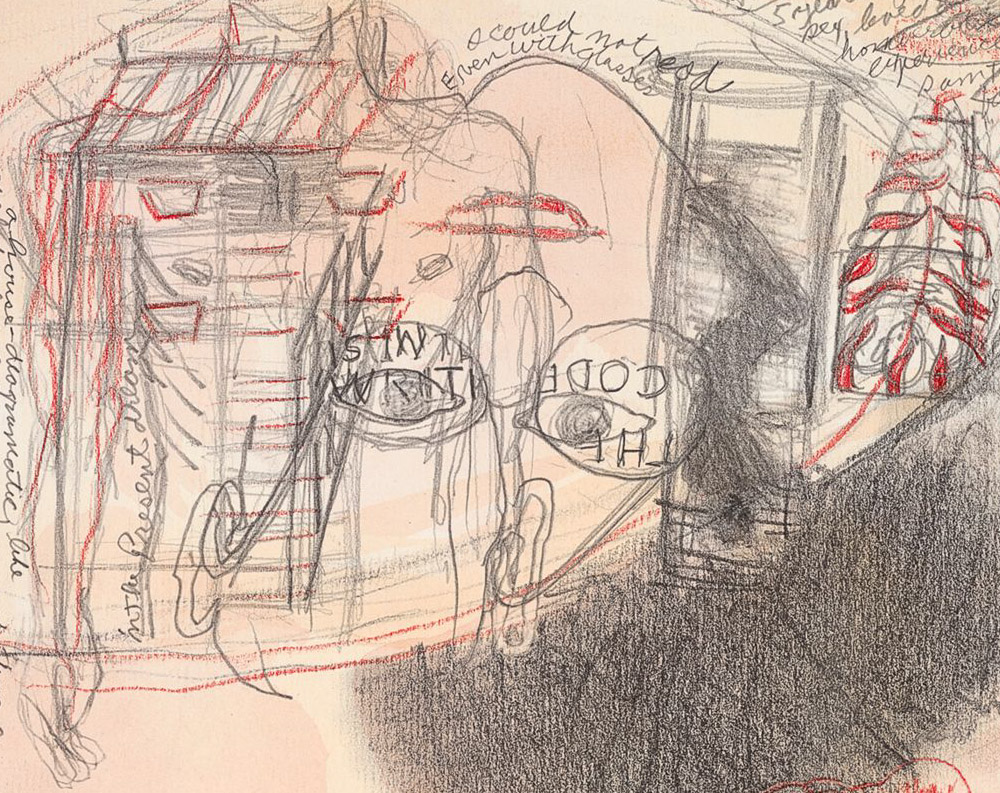 """JACK BUTLER Detail:  Nine Circles of Hell, Drawings by Wm. Blake by Jack Butler, """"Inferno"""", Canto 11."""