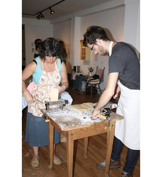Pasta Workshop Eyelevel Gallery Halifax, 8 August 2010