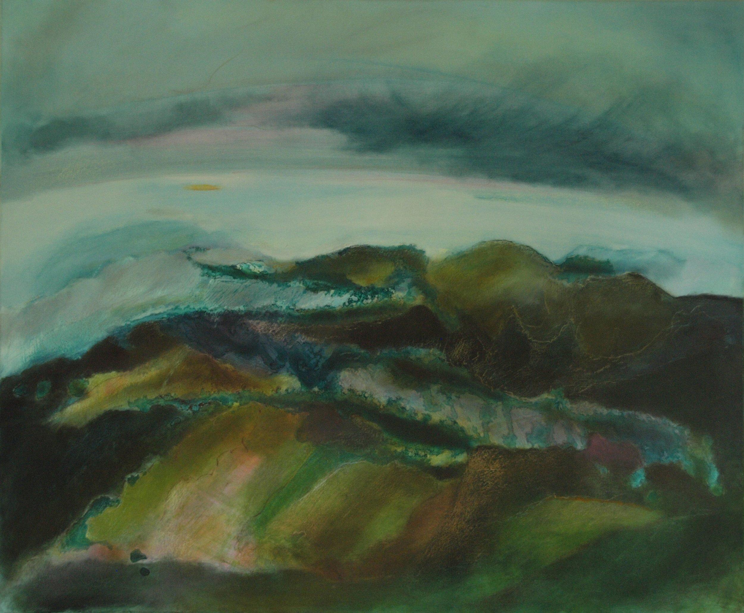 """Landscape à la Toscana,  2009 Oil on canvas 36"""" x 48"""""""