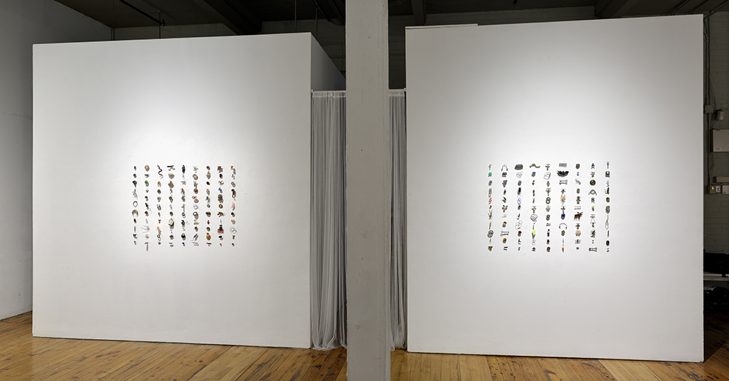 Specimens , 2018 Installation view at the Red Head Gallery Mixed media, 15' x 4' x 3'