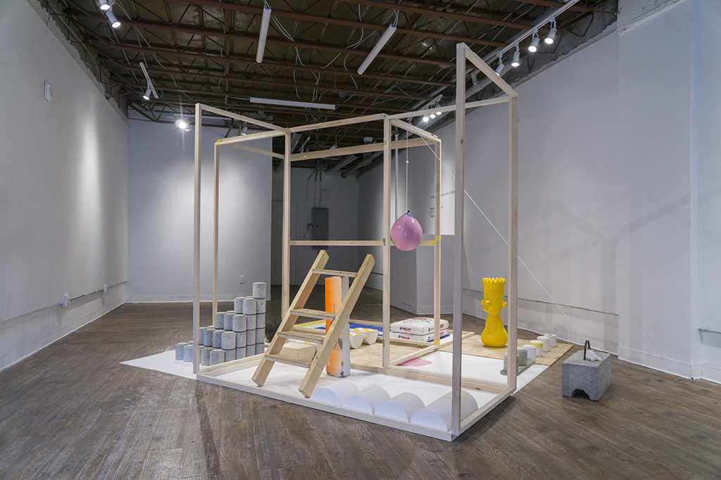 Home is where the Bart is,  2015 - 2018 Installation view at the Xpace Cultural Centre   Mixed media including: Wood, concrete, rebar, rebar tie-wire, plaster, silicon and rice 9' x 9' x 6'