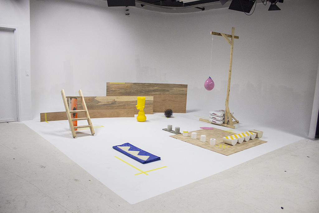 Undressing Bart , 2015 - 2017 Installation view Mixed media including: Wood, concrete, rebar, rebar-tie wire, plaster, silicon and rice 15' x 18' x 8'