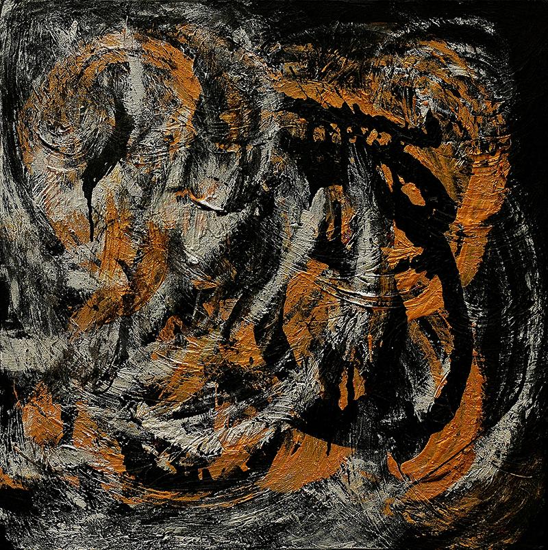"Tsunami 7 , 2012 Acrylic 18"" x 48"""