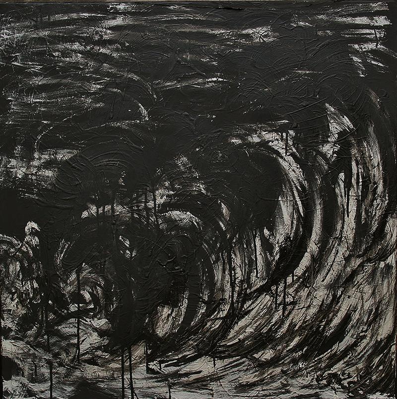"Tsunami 6 , 2012 Acrylic 30"" x 30"""