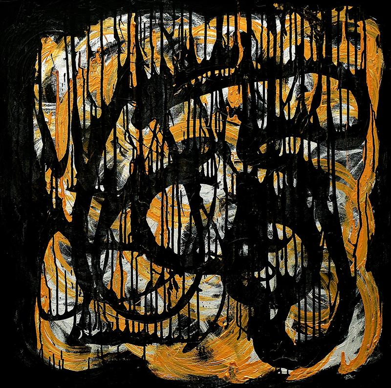 "Tsunami 1 , 2012 Acrylic 36"" x 36"""