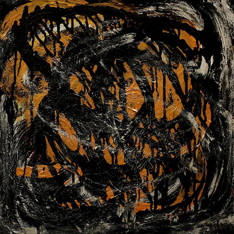 "Tsunami 2 , 2012 Acrylic 24"" x 24"""
