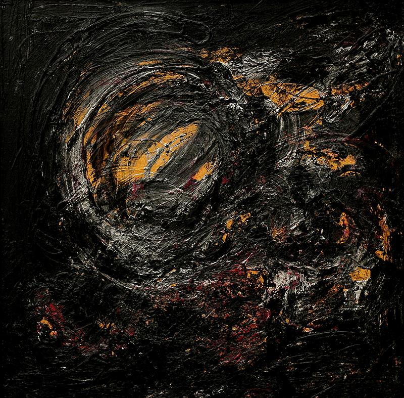 "Tsunami 3 , 2012 Acrylic 24"" x 24"""
