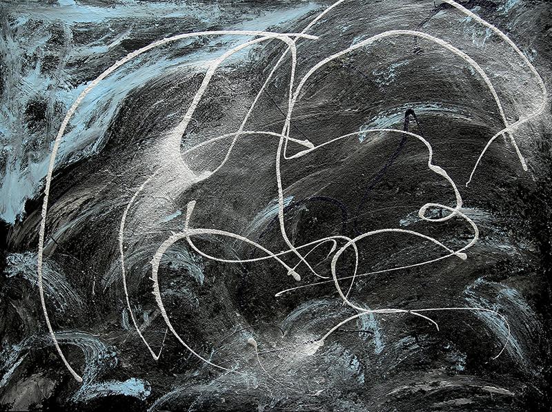 "Tsunami 10 , 2012 Acrylic 36"" x 60"""