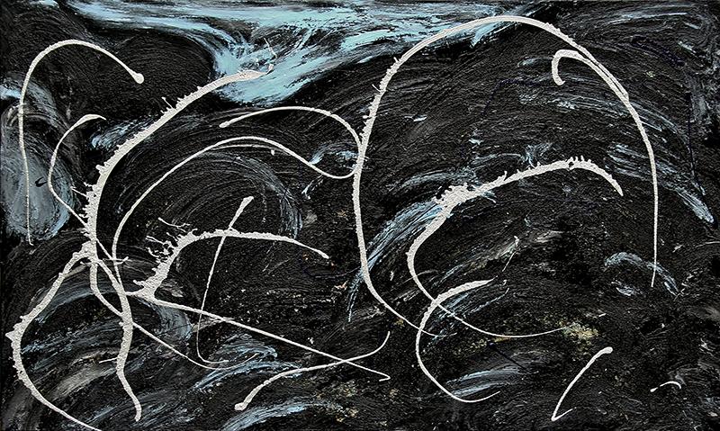 "Tsunami 9 , 2012 Acrylic 36"" x 48"""