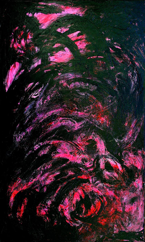 "Tsunami 14A , 2012 Acrylic 60"" x 36"""