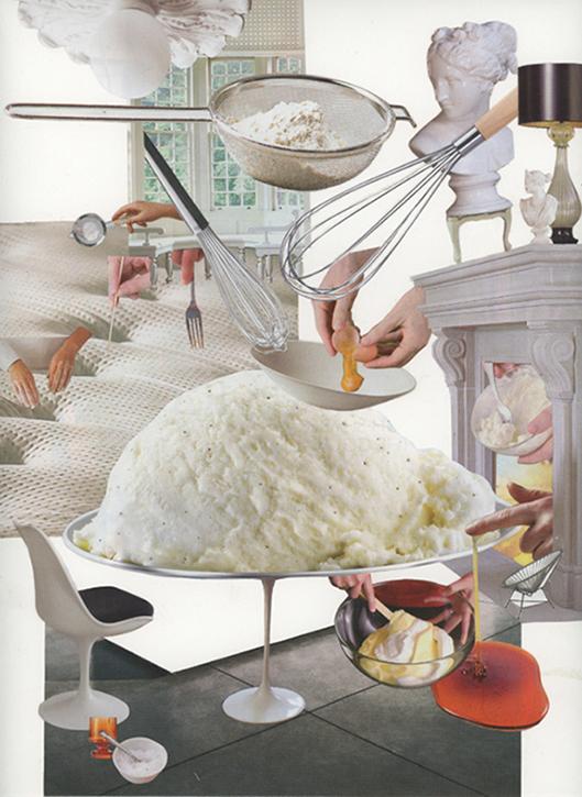 Cream,  2015 Hand cut collage: magazines, paper, glue 30.5 x 22.9 (cm)