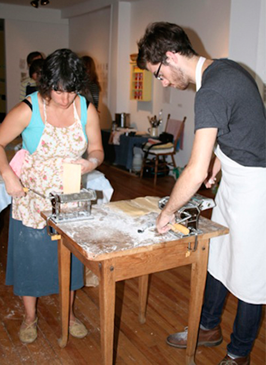 Pasta Workshop at Eyelevel Gallery in Halifax on August 8, 2010.