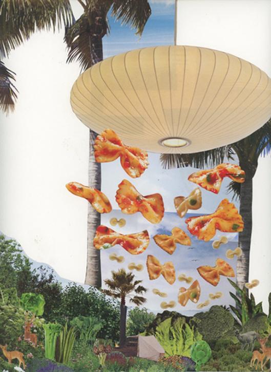 Farfalle and Fauna , 2014 Hand cut collage 30.5 x 22.9 (cm)