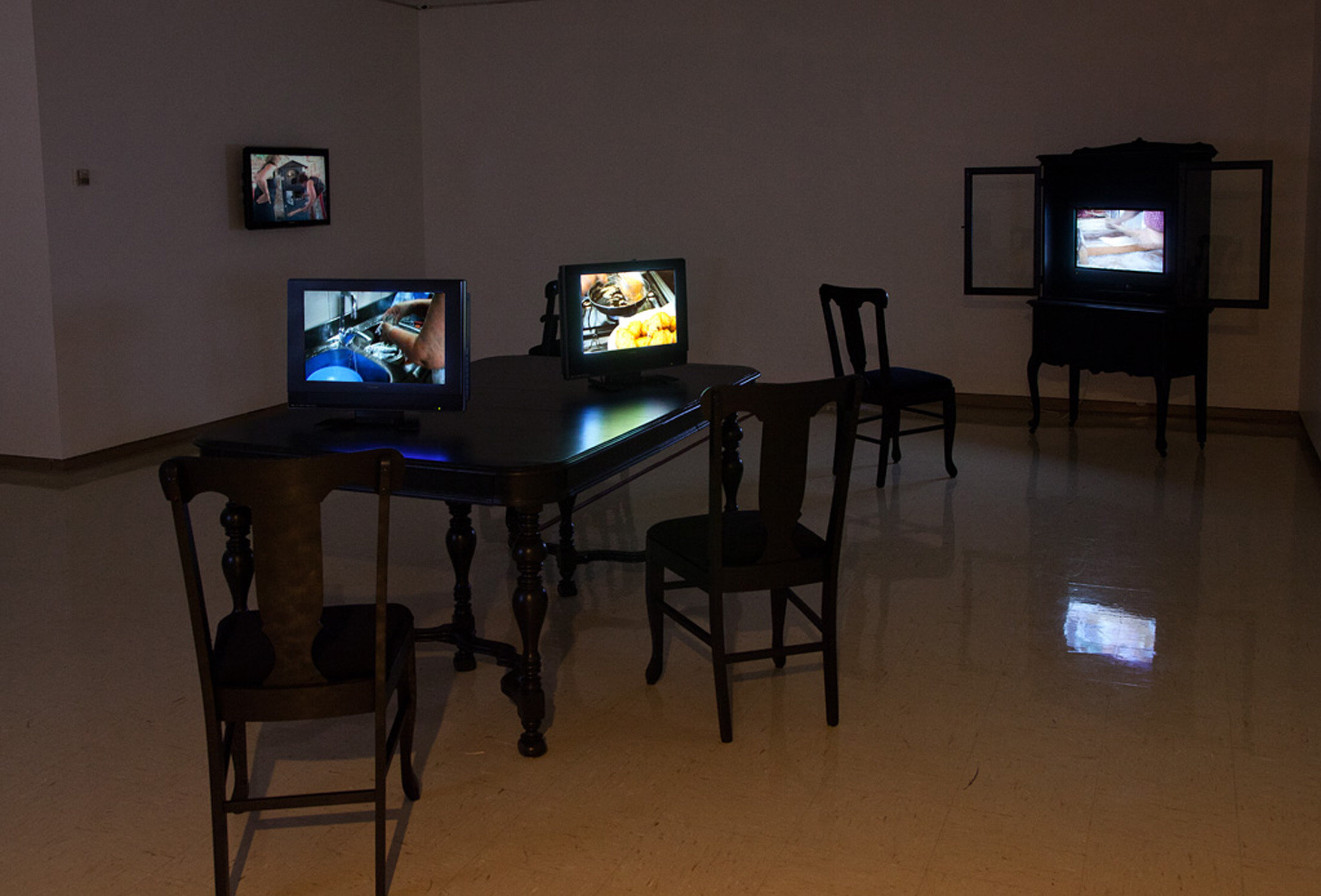 Feed,  2010 Single-channel video installation Dimensions vary