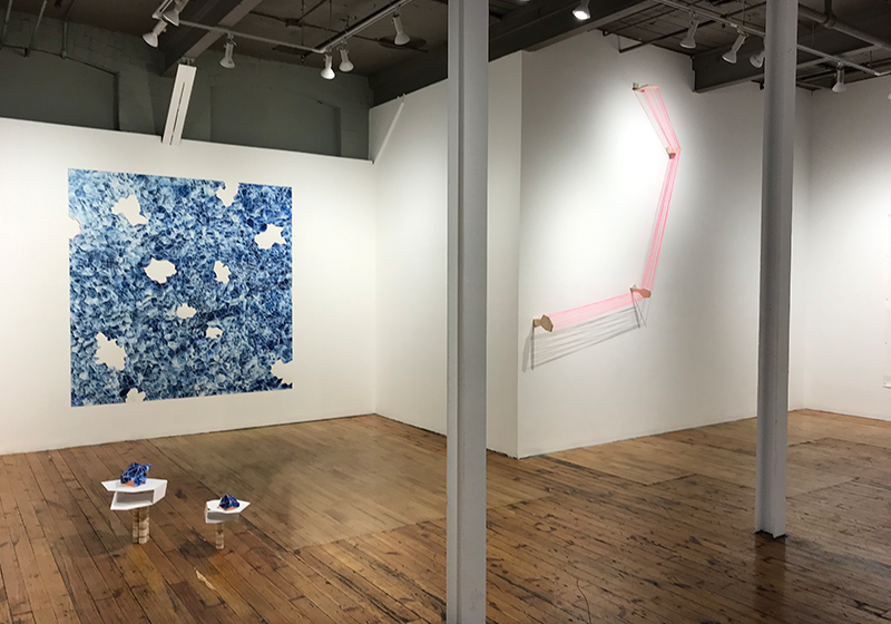 Installation view of  What I Tell the Sky, and What the Sky Tells Me , 2019.