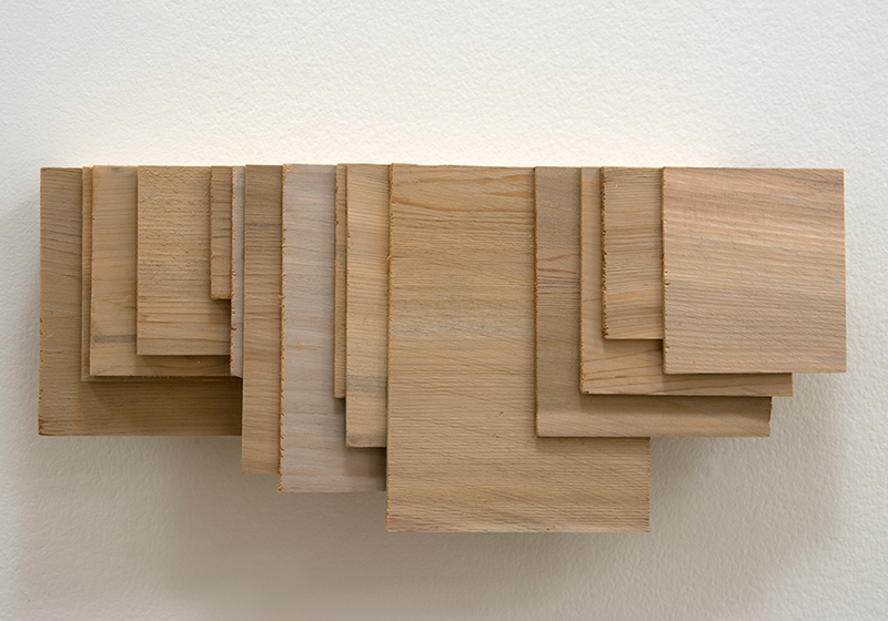 Cladding , 2015 Stained cedar shingle scraps, and plywood