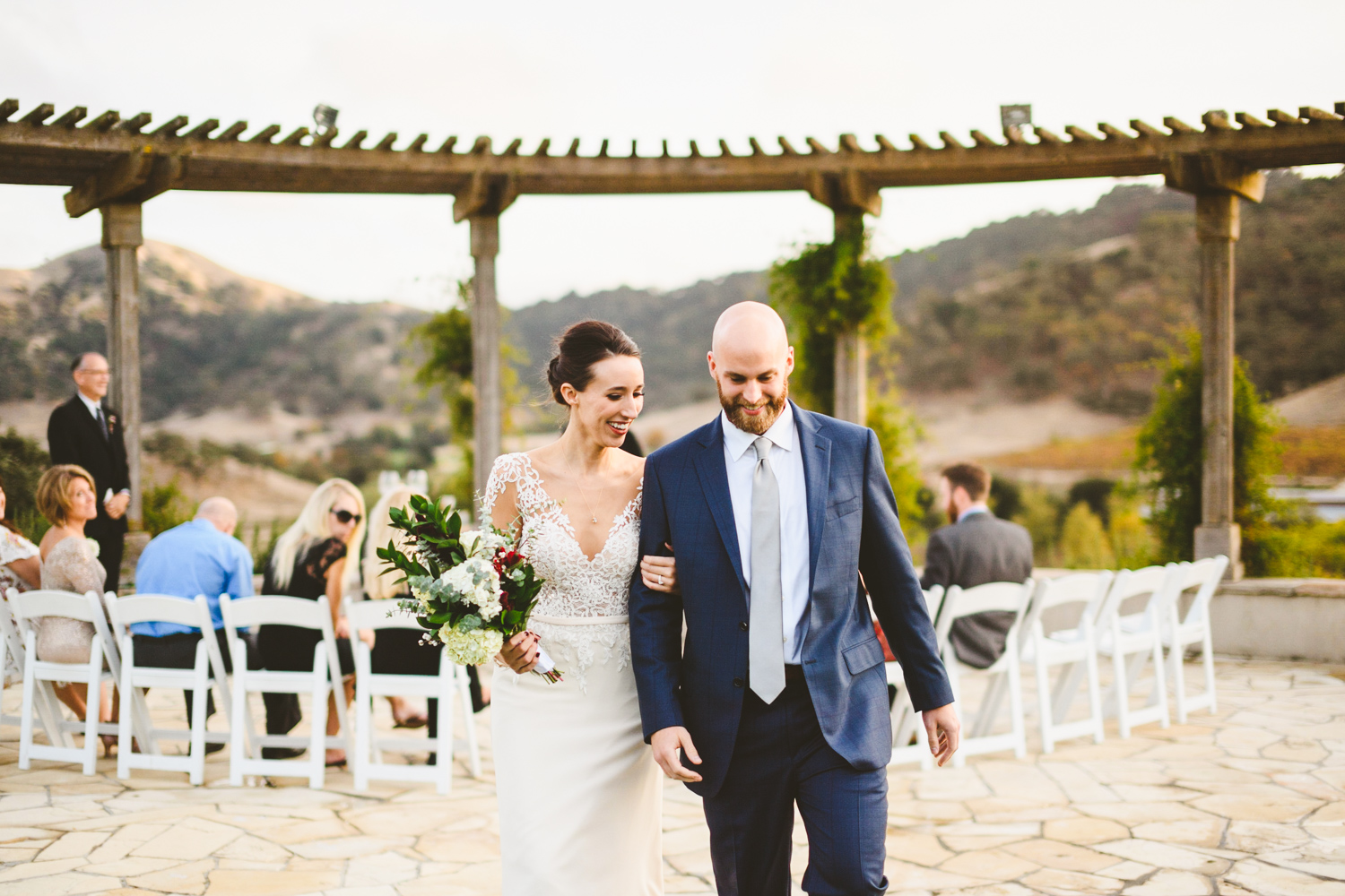 017 - bride and groom exit down the aisle in california.jpg