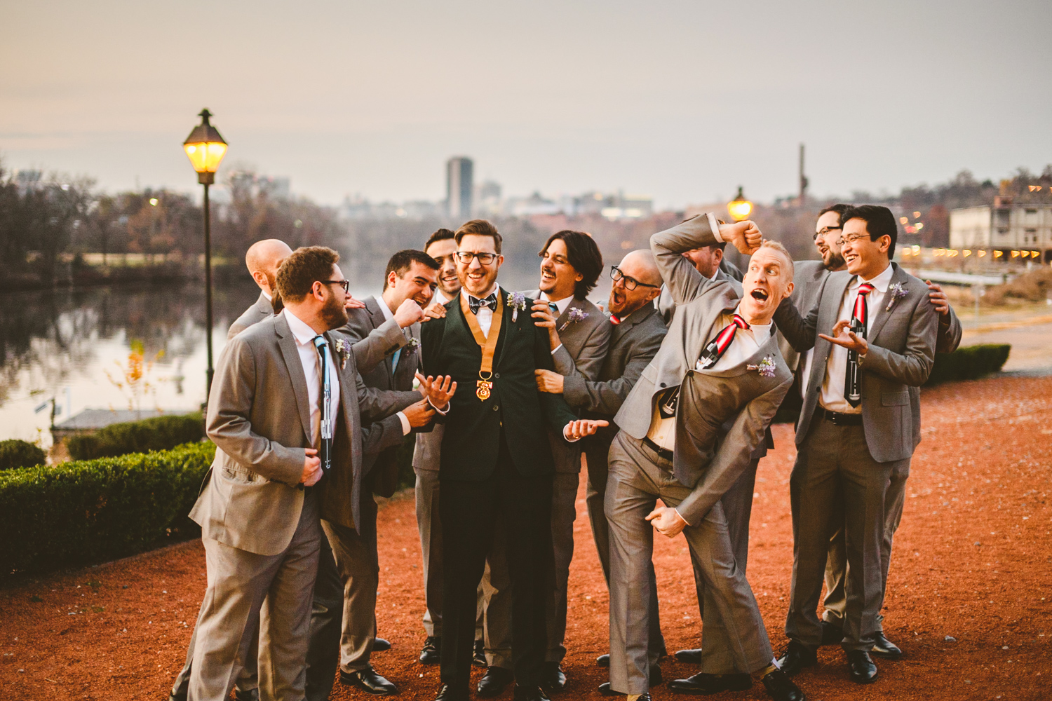024 - groom with groomsmen being weird.jpg