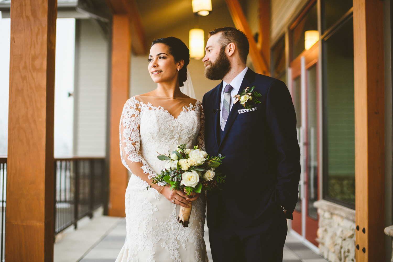 021 - beautiful portrait of bride and groom before their wedding at ski liberty mountain resort in pennsylvania.jpg