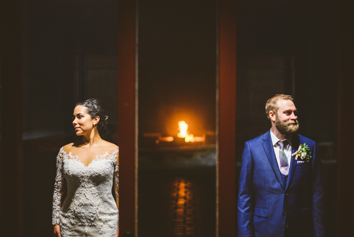 047 - portrait of bride and groom in front of bonfire.jpg