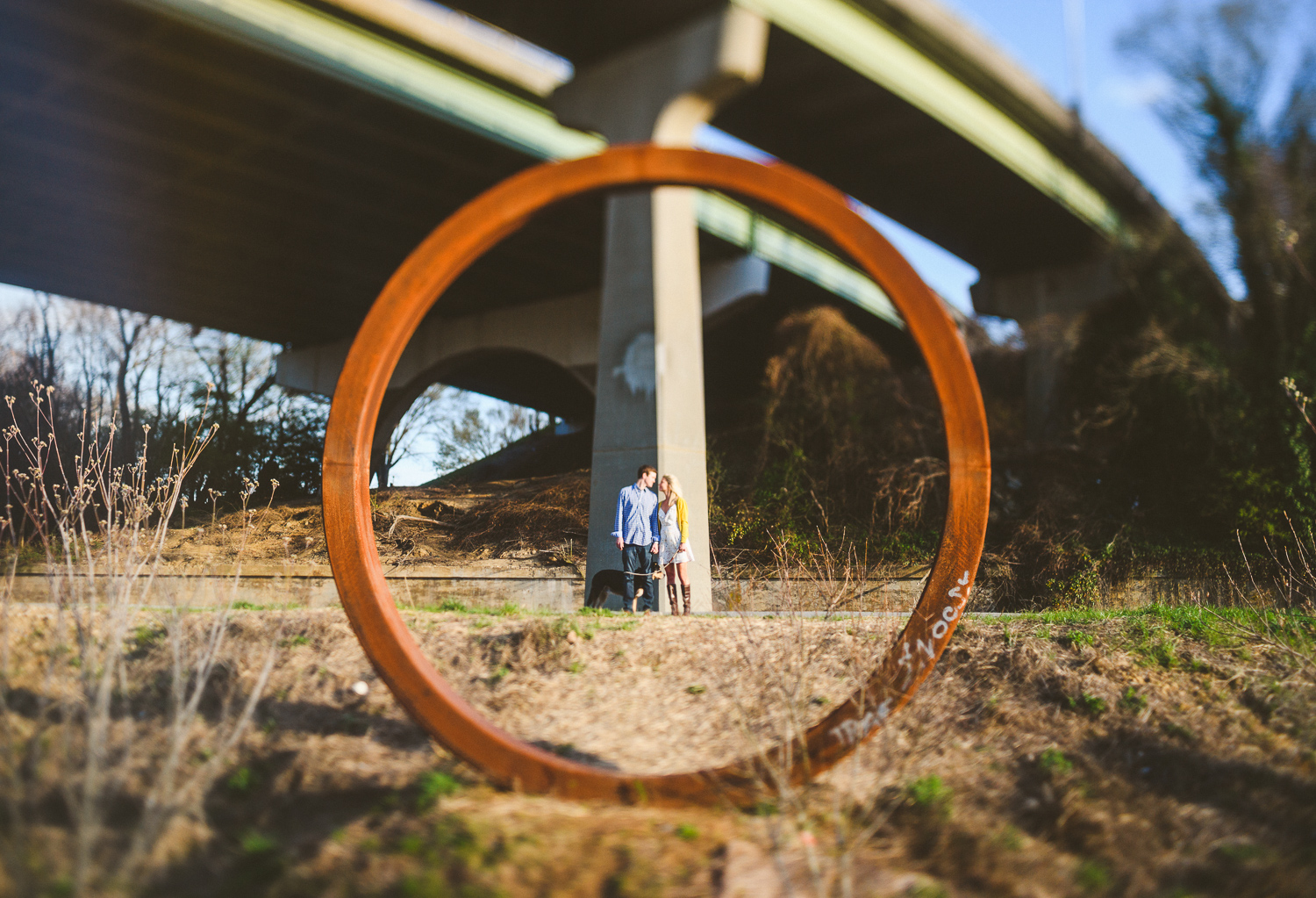 001 - gorgeous creative photo of engaged couple in richmond virginia wedding photographer nathan mitchell.jpg