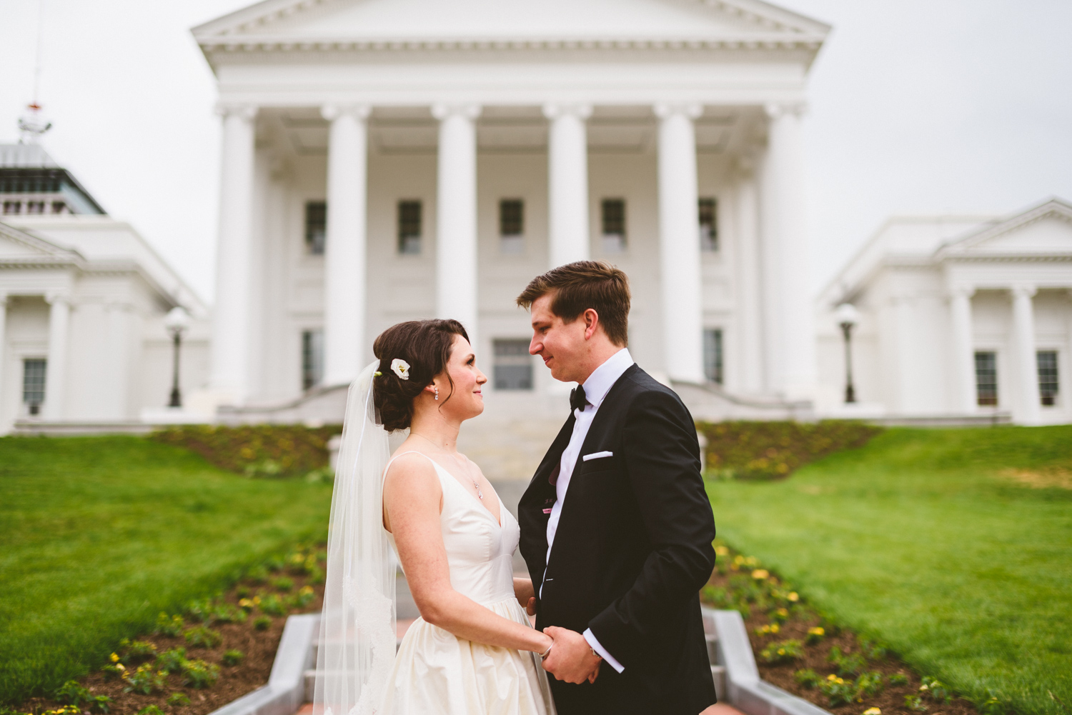 008 - bride and groom in front of the virginia state capitol in richmond virginia.jpg