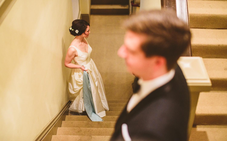 018 - interior wedding portraits on stairs in richmond virginia.jpg