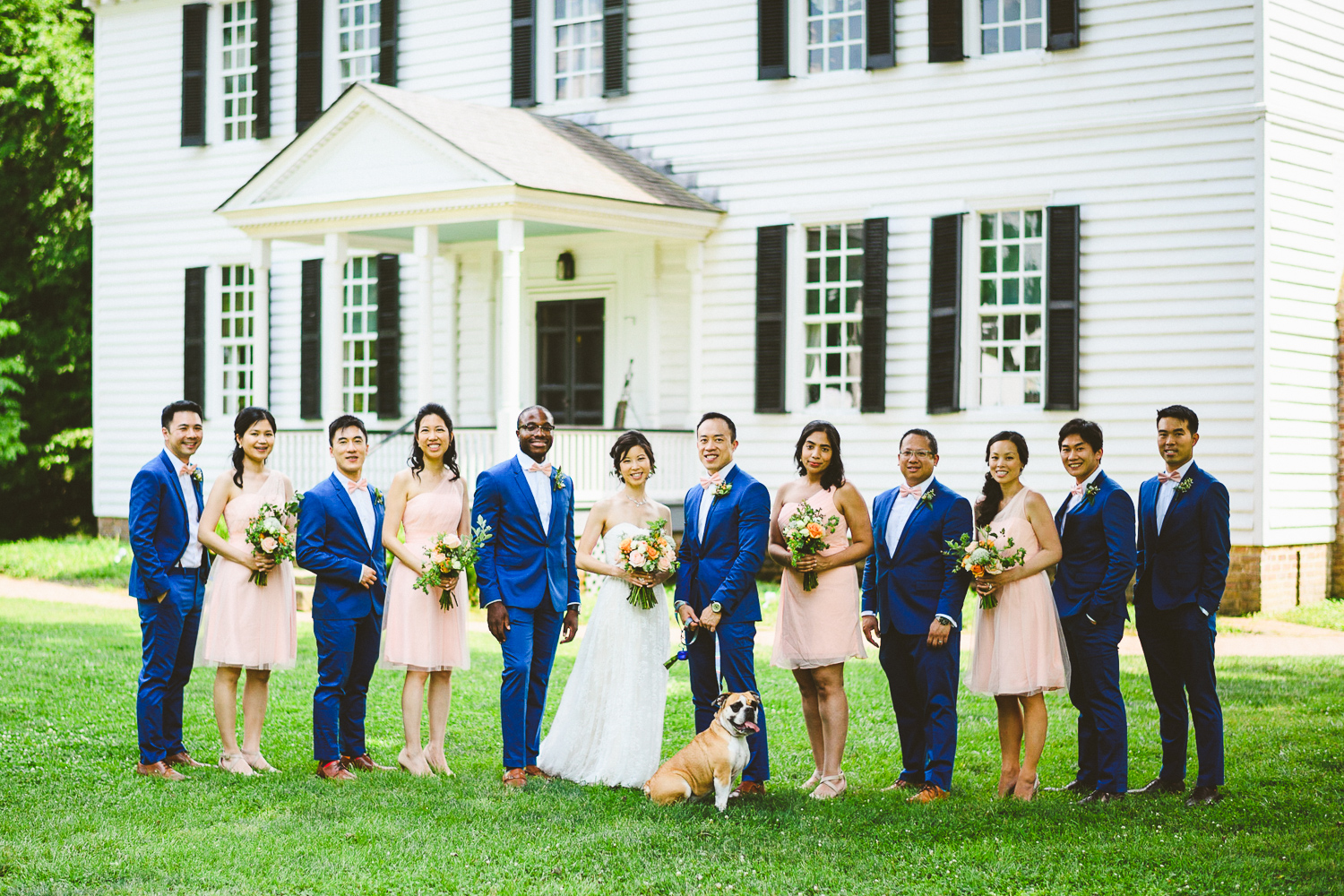 018 - virginia wedding photographer nathan mitchell bridal party with dog.jpg
