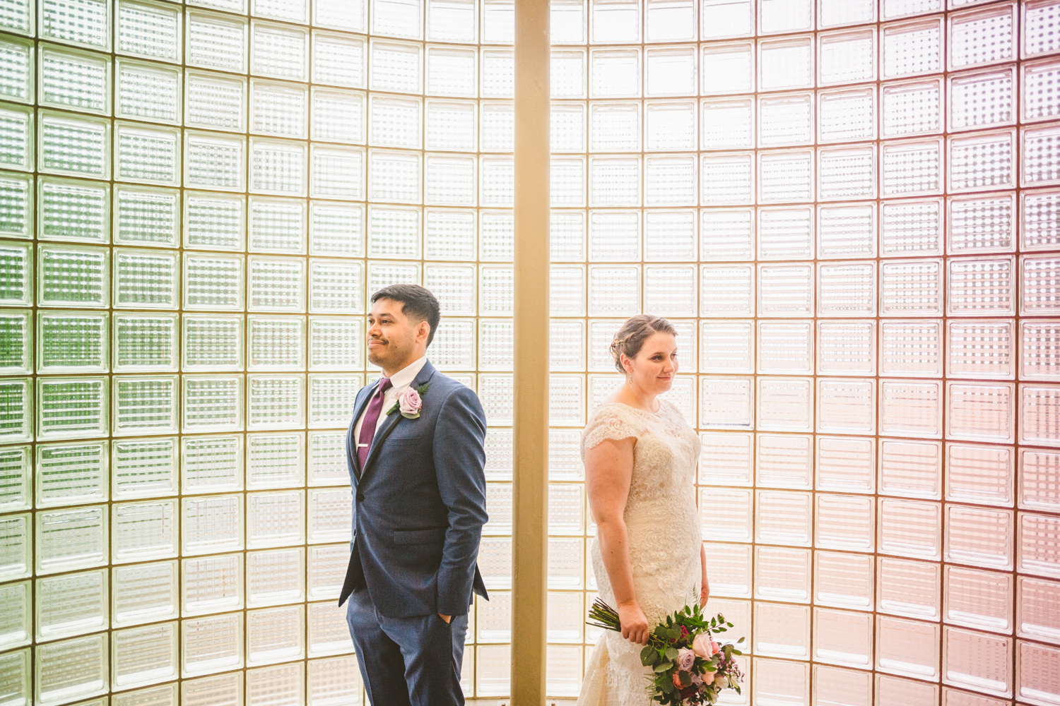 040 - creative green and pink portrait of bride and groom baltimore and washington dc wedding photographer nathan mitchell.jpg