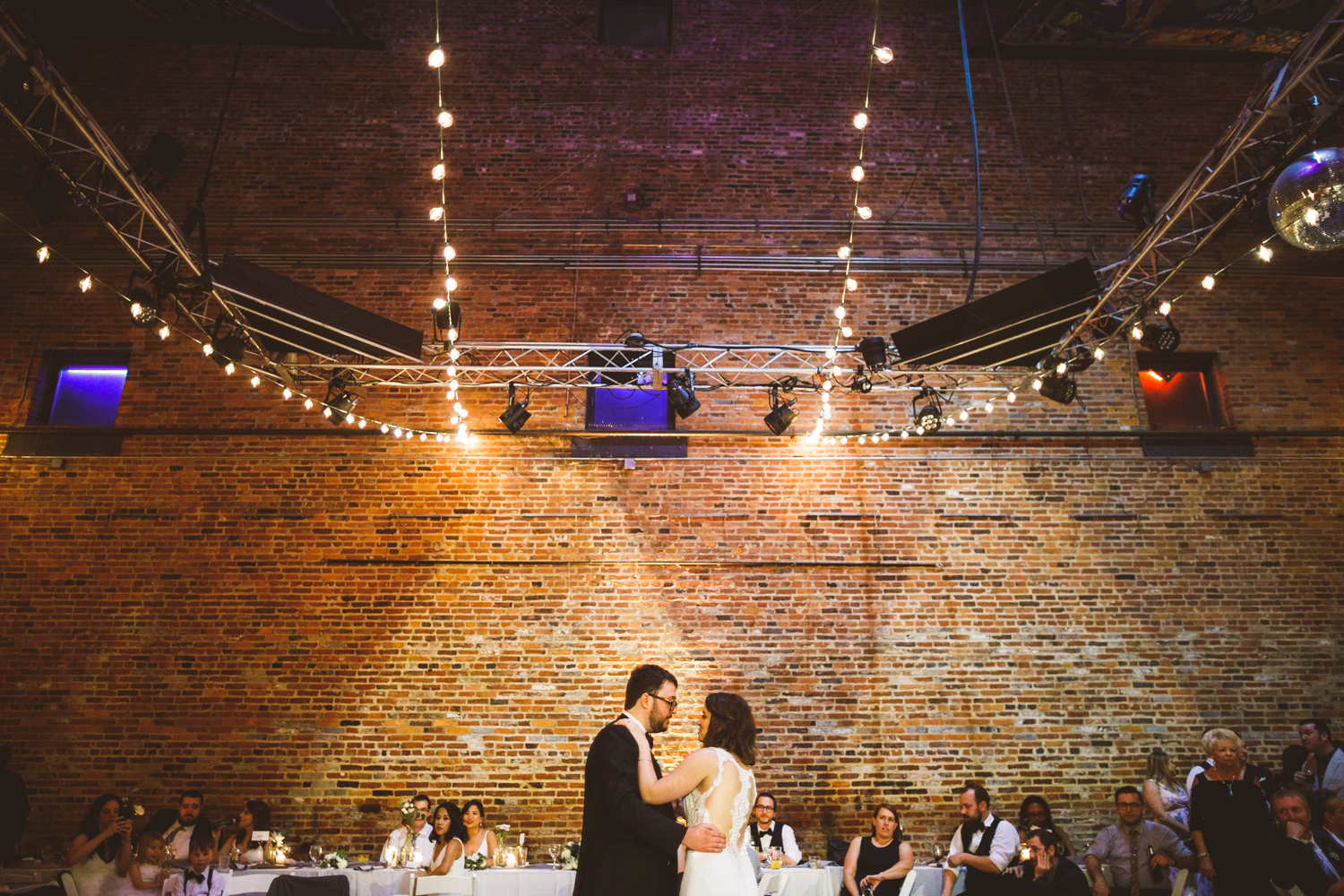 046 - bride and groom first dance at the American Visionary Arts Museum in Baltimore Maryland.jpg