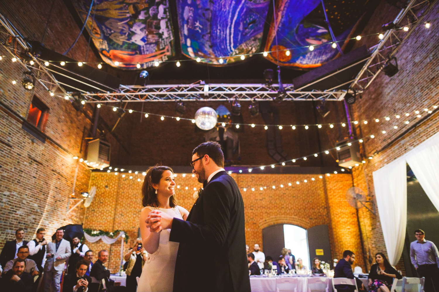 048 - bride and groom first dance at the American Visionary Arts Museum in Baltimore Maryland.jpg