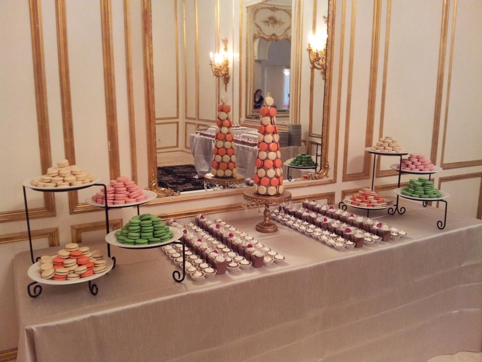 Not only do we offer delightful macarons for your special day, we also offer other small treats to go with the rest of your dessert table