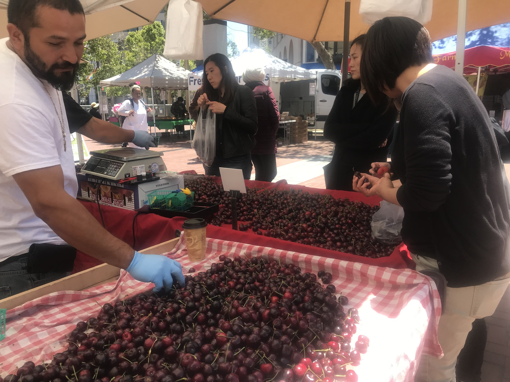 Cherries for sale at the market on Friday, June 7. |  PHOTO: COURTESY OF THE CIVIC CENTER COMMUNITY BENEFIT DISTRICT