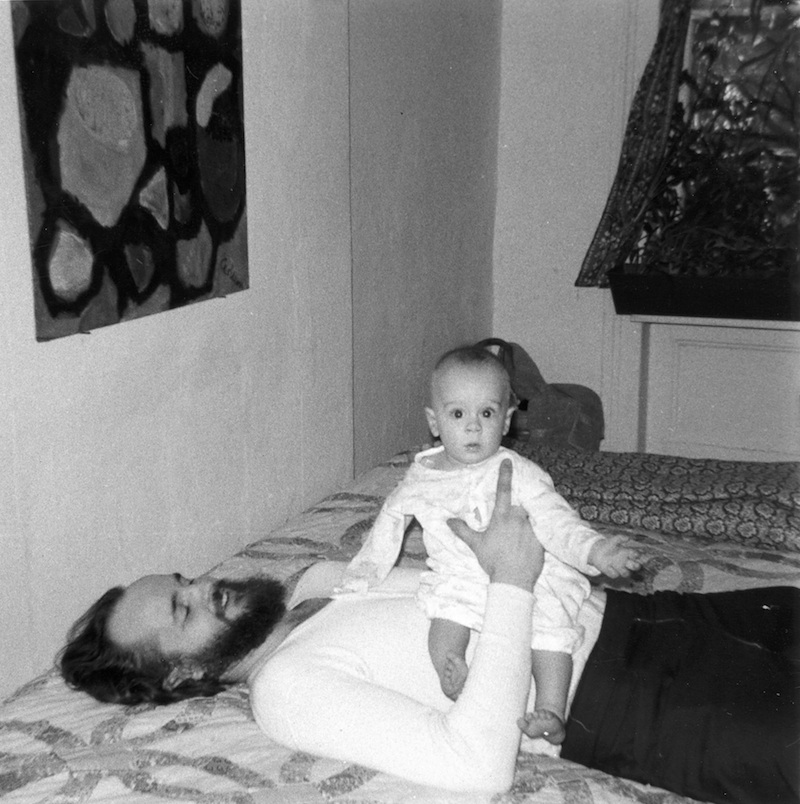 With my pops in our $60 a month 6th floor walk-up apartment. NYC 1971.